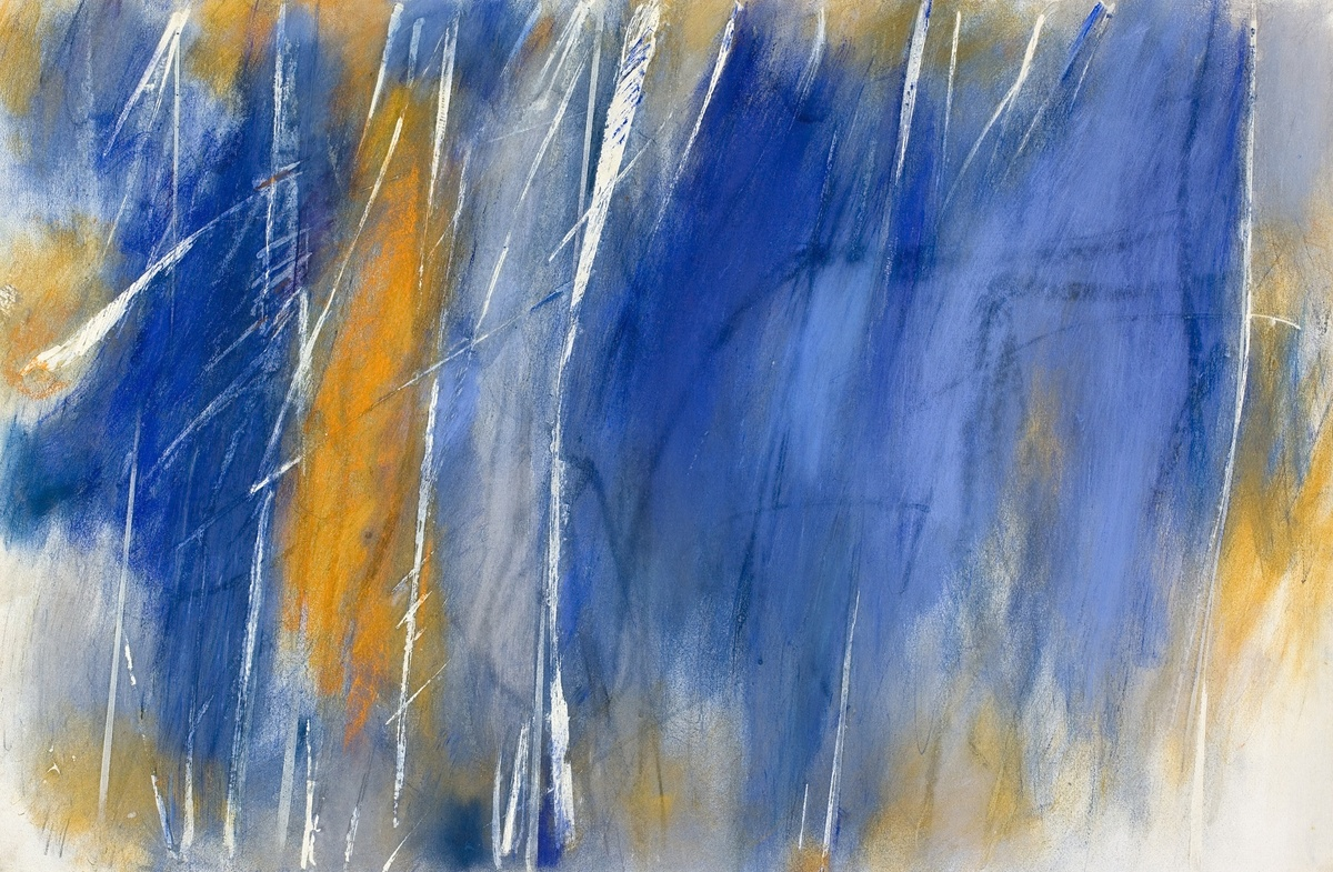 John Golding, 1929-2012, Untitled, 1987. Pastel on paper, 49 x 73.5 cm. For sale.