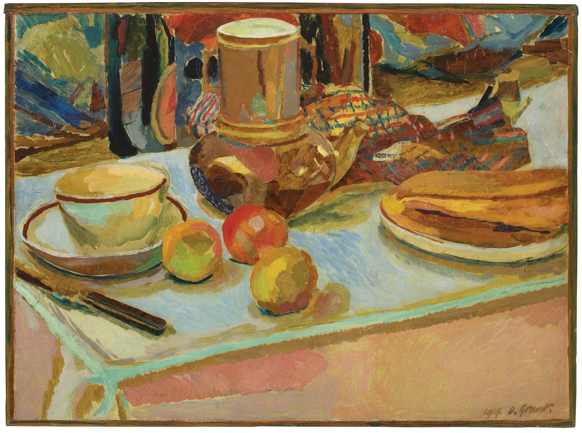 Duncan Grant, Still Life with Fruit and Coffee pot, 1914