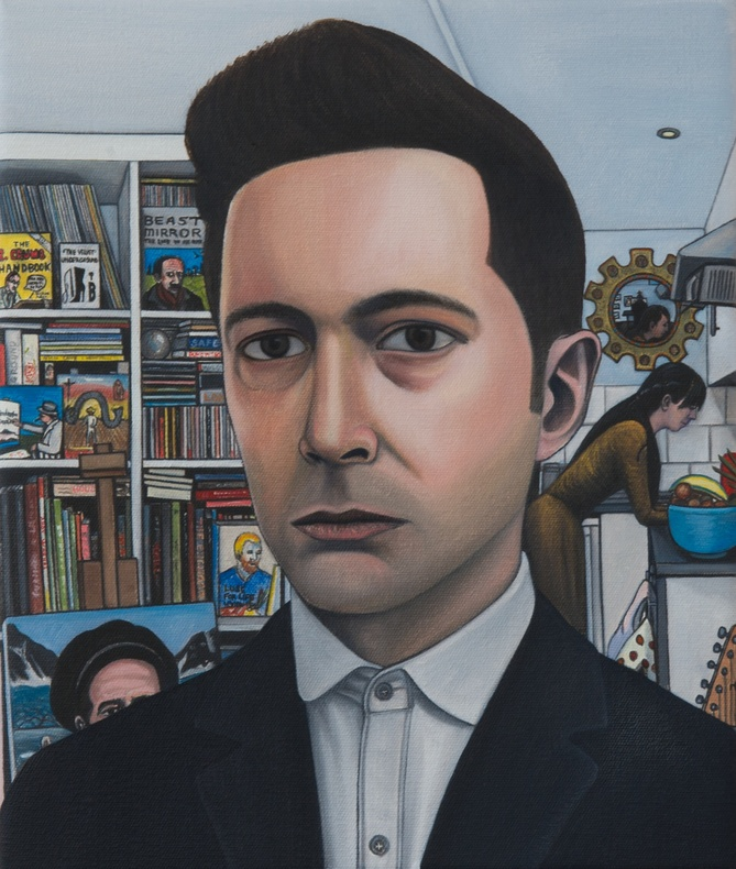 Ben Edge, Self-Portrait with Mirror  £ 600