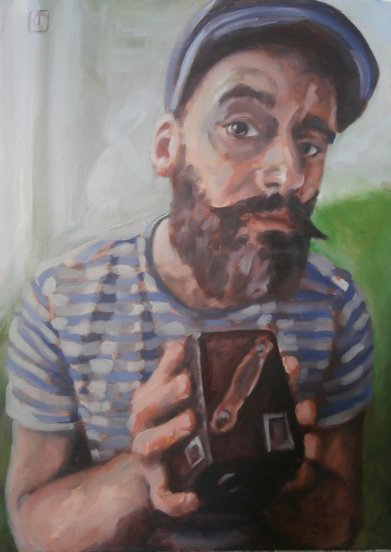 Jereme Crow, Self-Portrait with Box Brownie  £ 800