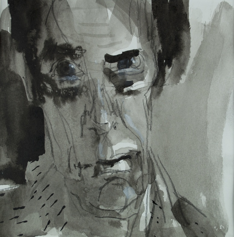 Peter Lloyd-Jones, Self-Portrait in Grey  £ 2,400
