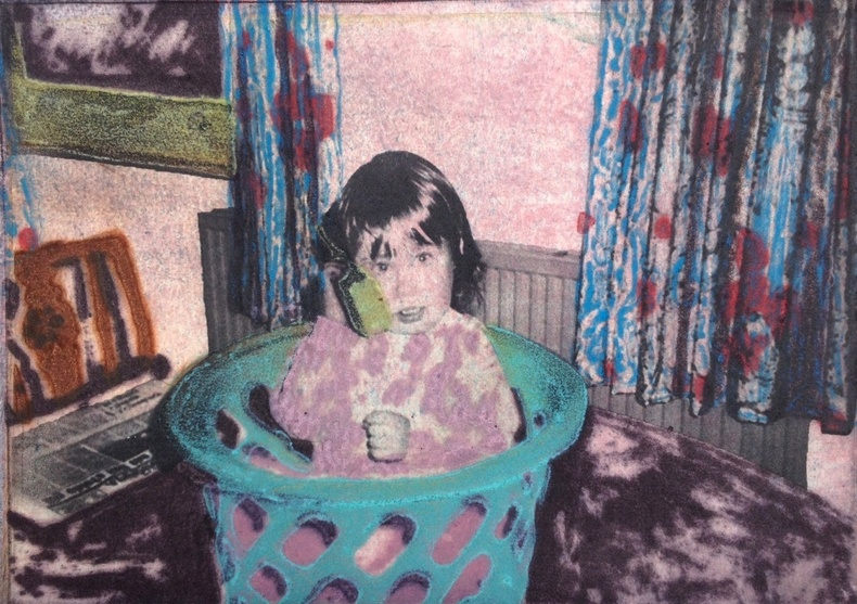 Sophie Layton, Phone call in a laundry basket on the kitchen table  £ 760