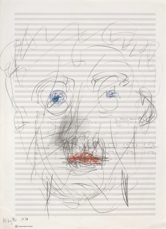 Harrison Birtwistle, Self-Portrait, 2017