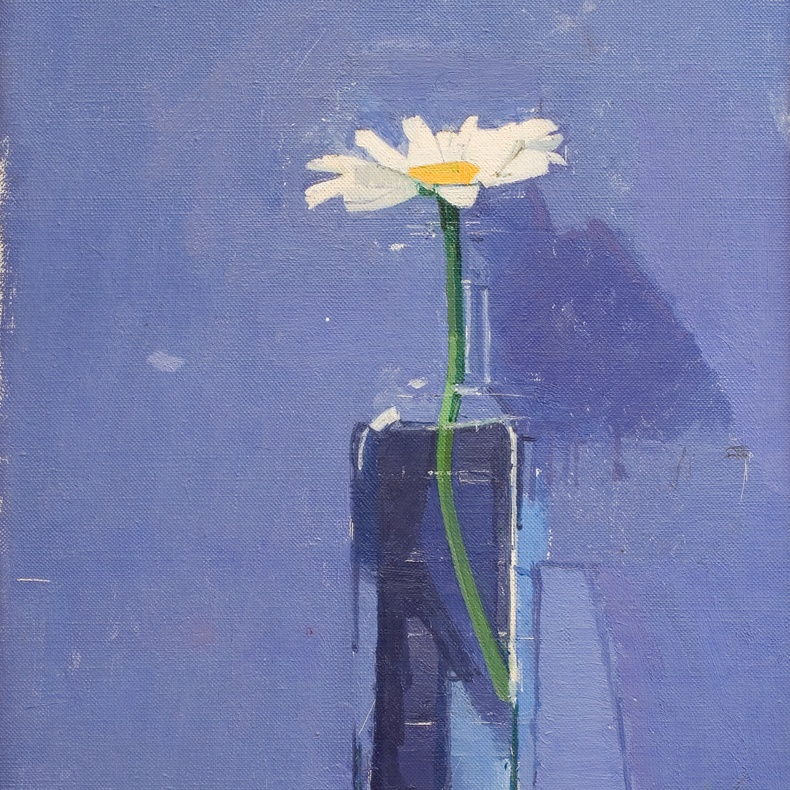 Euan Uglow, 1932-2000, Daisy, 1976. Oil on canvas, 35 x 25.4 cm, 13 3/4 x 10 in.