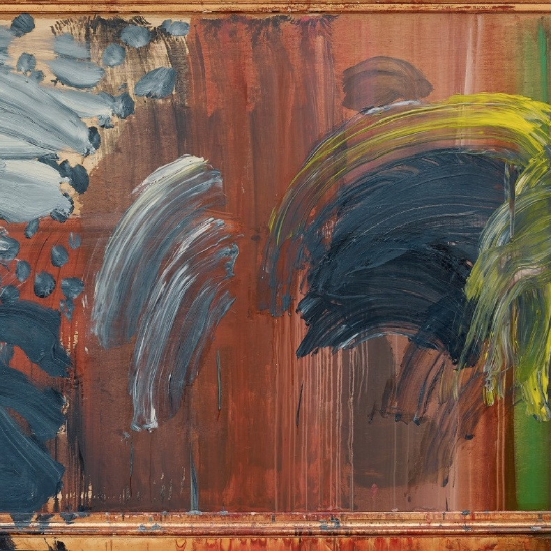 Sir Howard Hodgkin, 1932-2017, 'Portrait of the Artist Listening to Music', 2016. Photograph: © Howard Hodgkin