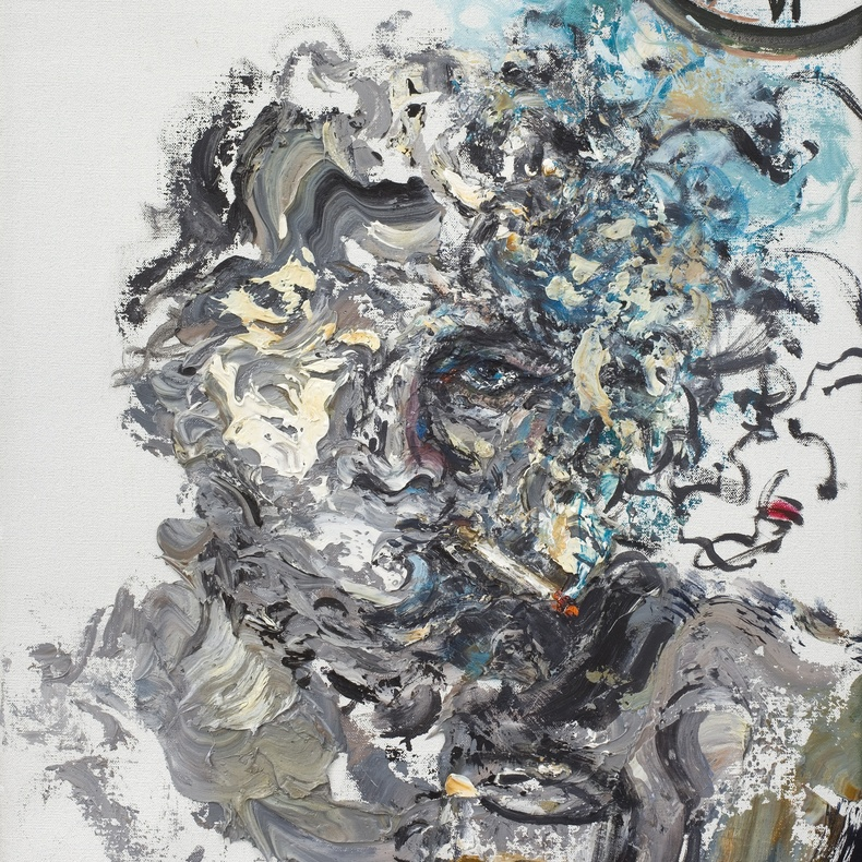 Maggi Hambling, Self-Portrait, 2011, Oil on canvas, 53 x 43 cm, The Ruth Borchard Collection